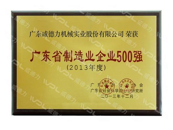 威德力-广东省制造业企业500强